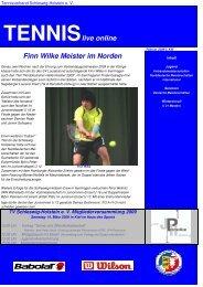 TENNISlive online - Tennisverband Schleswig-Holstein