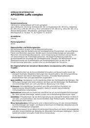 Gebrauchsinformation für Apozema ... - FUX APOTHEKE