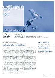PDF, 741 Kb - BirdLife Zürich