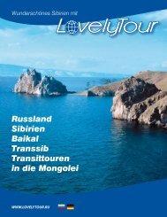 Russland Sibirien Baikal Transsib Transittouren in die Mongolei
