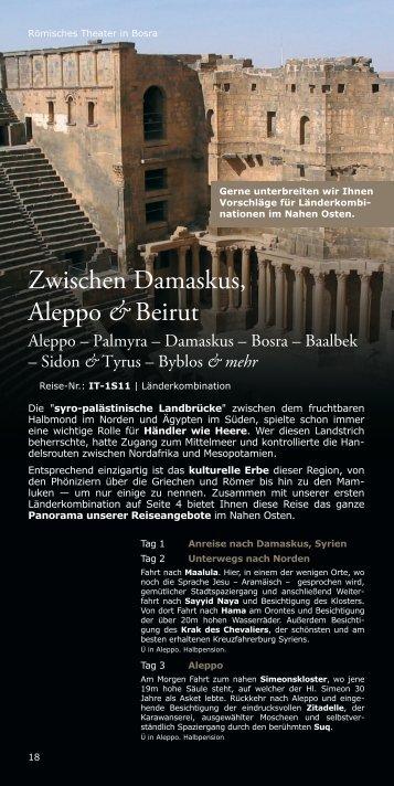 Zwischen Damaskus, Aleppo &Beirut - ITERU