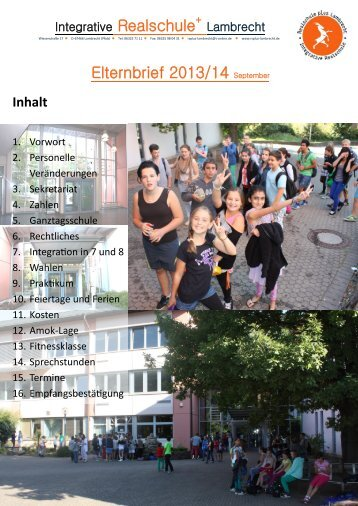 Eltern-Infobrief 2013/2014(pdf) - Realschule Plus – Lambrecht