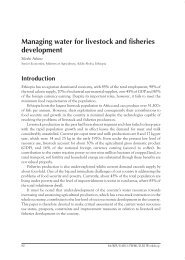 Managing water for livestock and fisheries development