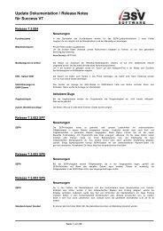 Update Dokumentation / Release Notes für Success V7