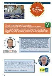 Dezentrale Energieversorgung - GdW