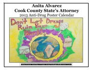 2013 Poster Contest Winners Calendar - Cook County State's Attorney