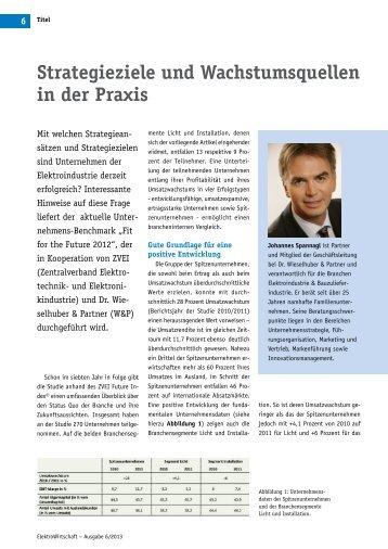 Strategieziele und Wachstumsquellen in der Praxis - Dr ...