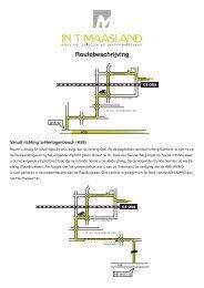 Routebeschrijving - t Maasland