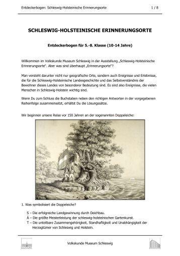 Entdeckerbogen-S-H Erinnerungsorte-Version für ... - Schloss Gottorf