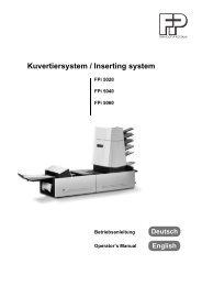 Kuvertiersystem / Inserting system - Francotyp-Postalia AG & Co.