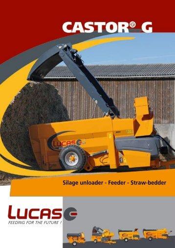 Silage unloader - Feeder - Straw-bedder - Lucas G