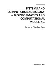 SYSTEMS AND COMPUTATIONAL BIOLOGY – BIOINFORMATICS ...