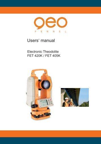 Users' manual - Spot-on.net
