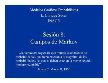 Sesión 8: Campos de Markov - inaoe