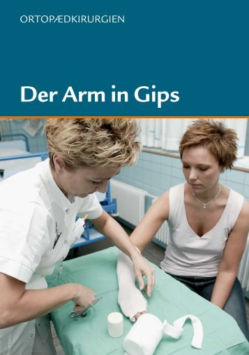Der Arm in Gips