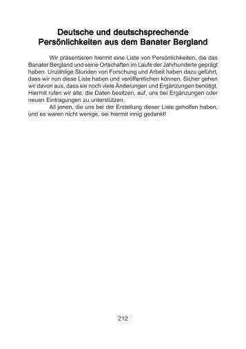 Deutsche und deutschsprechende Persönlichkeiten aus dem Banater