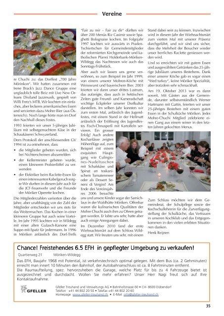 MWiZytig-4-2013_low [PDF, 6.00 MB] - Gemeinde Möriken-Wildegg