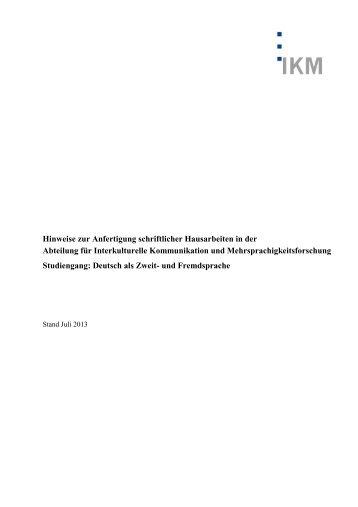 Hinweise Für Die Anfertigung Einer Strafrechtlichen Hausarbeit