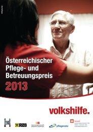 Österreichischer Pflege- und Betreuungspreis 2013 - Volkshilfe ...