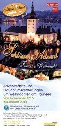Schlösser Advent 2013 Folder - Traunsee - Salzkammergut