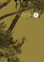 Moriki Sake- und Weinkarte