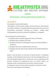 Leitfaden Die Kampagne - Planung, Organisation, Durchführung