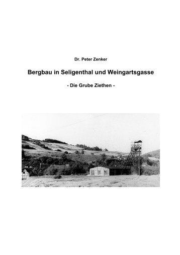 Bergbau in Seligenthal und Weingartsgasse ... - Dr. Peter Zenker