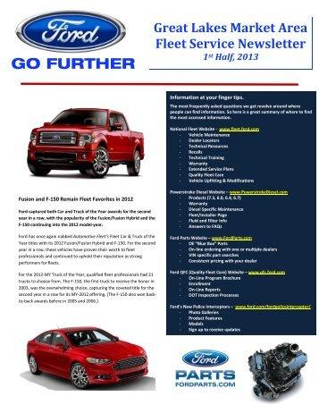Ford GLMA Newsletter, 1st half 2013