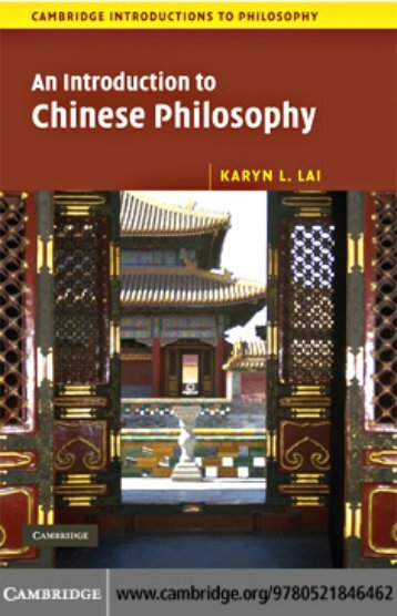 An Introduction to Chinese Philosophy - GEMAKU
