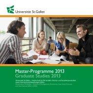 Master-Programme 2013 Graduate Studies 2013 - QS World ...