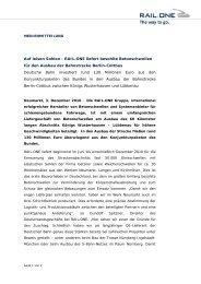 Auf leisen Sohlen - RAIL.ONE liefert besohlte ... - RAIL.ONE GmbH