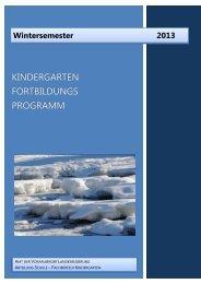 fortbildungs programm - Vorarlberg