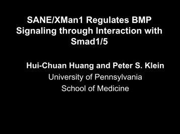 SANE/XMan1 Regulates BMP Signaling through ... - Melorheostosis