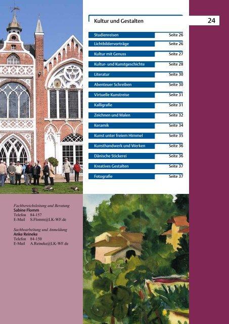 2012-2013 Kultur und Gestalten - Bildungszentrum Wolfenbüttel