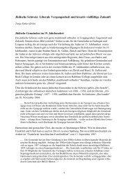 Progressives Judentum in der Schweiz: - Interreligiöser Think-Tank