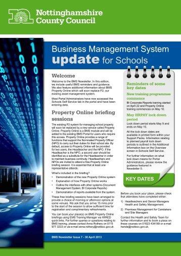 BMS Newsletter 7 Schools - Nottinghamshire Portal