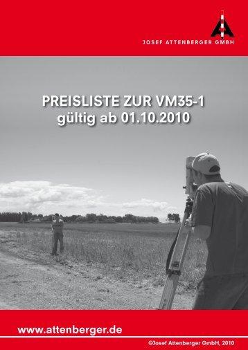 Preisliste zur VM35-1 gültig ab 01.10.2010