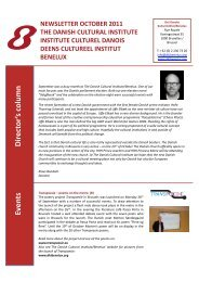 Director's column Events - The Danish Cultural Institute/Benelux