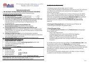 Nebenkostenübersicht ( für den Kauf / Verkauf /Miete/Pacht ...
