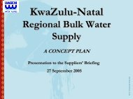 KwaZulu-Natal regional bulk water supply - Umgeni Water
