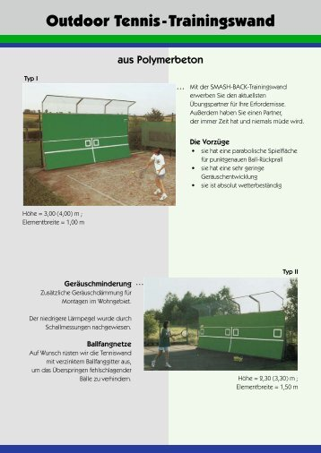 Outdoor Tennis-Trainingswand - Maillith.pl