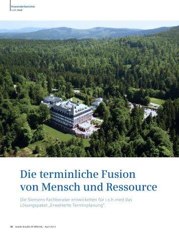 Die terminliche Fusion von Mensch und Ressource - Siemens ...