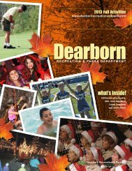 Recreation & Parks - 2013 Fall Activities Brochure - Camp Dearborn