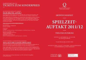 Spielzeit- AuftAkt 2011/12
