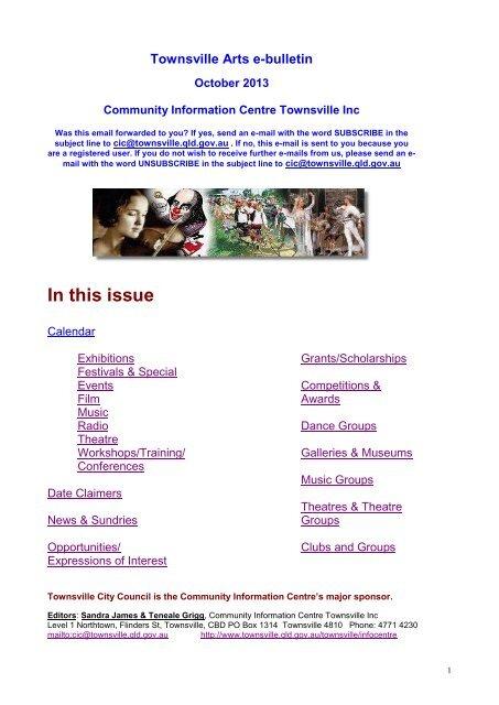 Arts E-bulletin October 2013 - Townsville City Council
