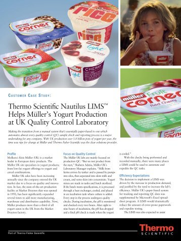 Mullers Yogurt Production - PlantVision