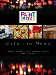 Paintbox Catering Packages