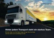 Hinter jedem Transport steht ein starkes Team. - Ost West Cargo