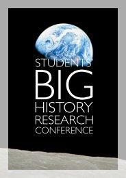 Conference program - Big History Primair Onderwijs