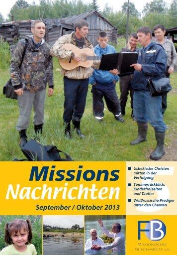 Nachrichten 2013-5 - Missionswerk FriedensBote